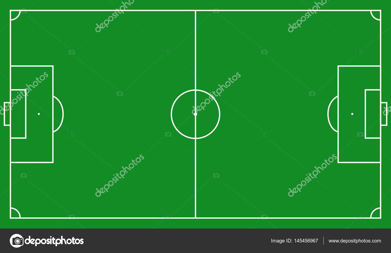 Fussball Feld Schema Stockvektor C Mishabokovan 145456967