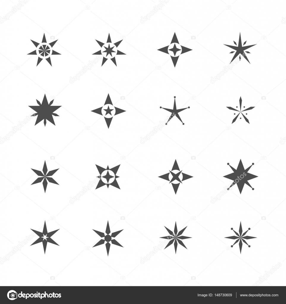 Kształt Gwiazdy Ikony Grafika Wektorowa Mishabokovan