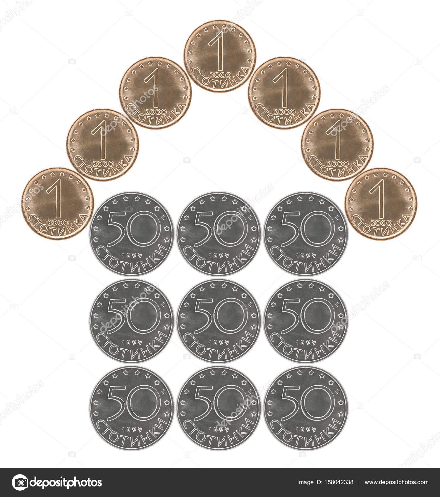 Hausgemachte Bulgarische Münzen Stockfoto Andreylobachev 158042338