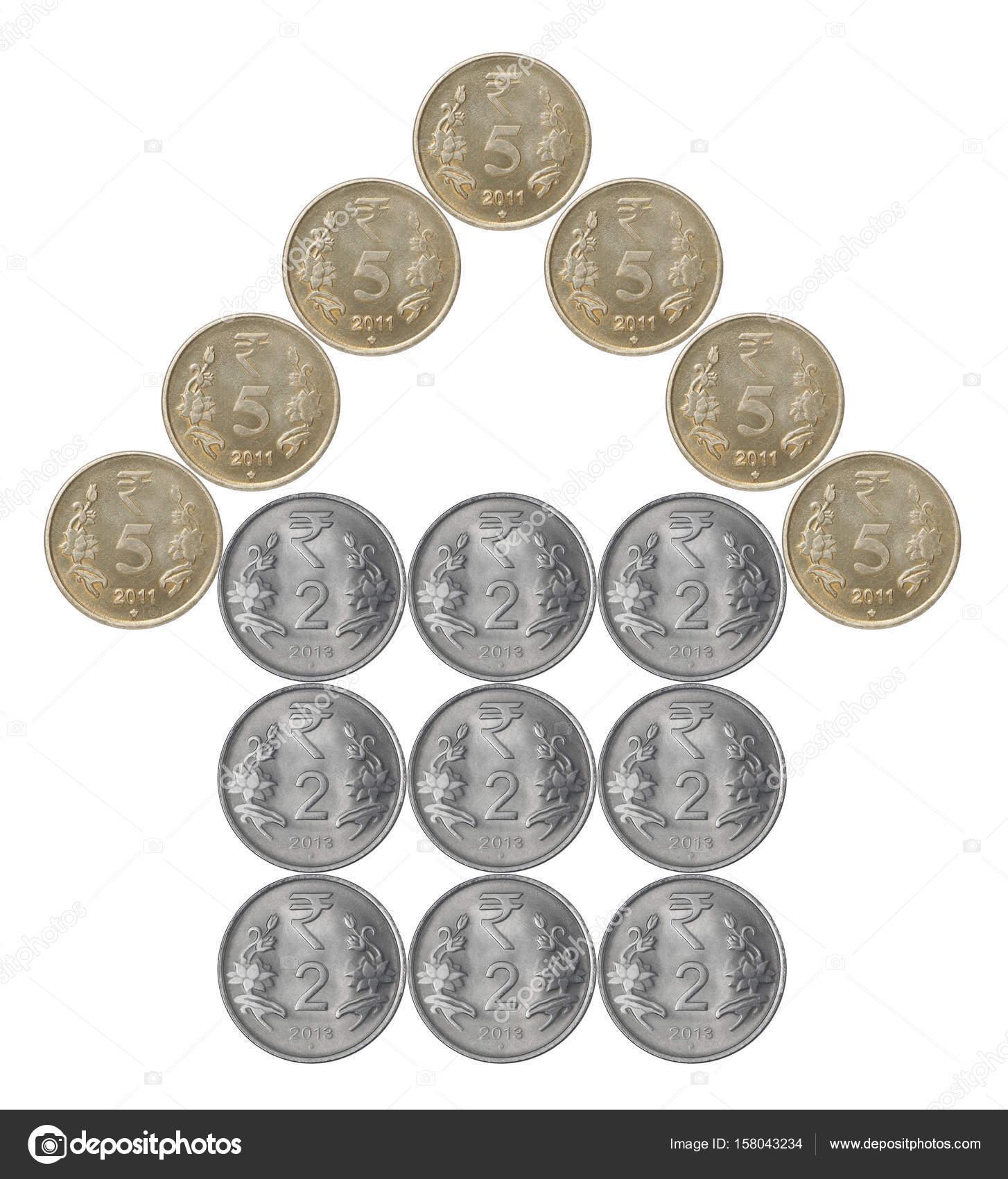 Hausgemachte Indische Münzen Stockfoto Andreylobachev 158043234