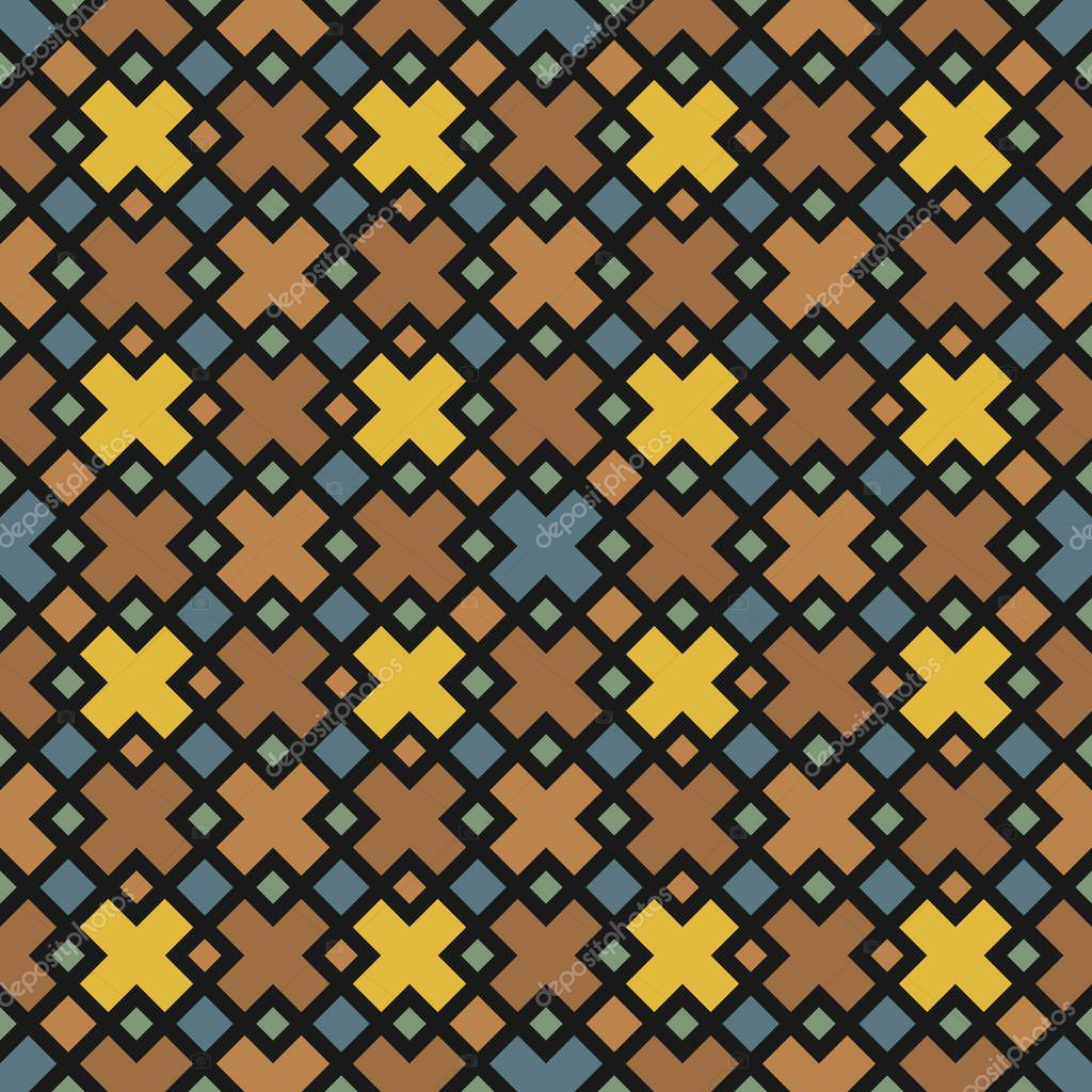 Seamless pattern with geometric designs