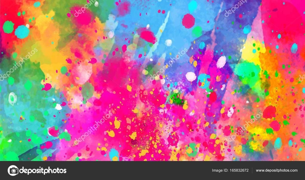 Fondos Abstractos De Colores: Manchas Abstractas De Colores