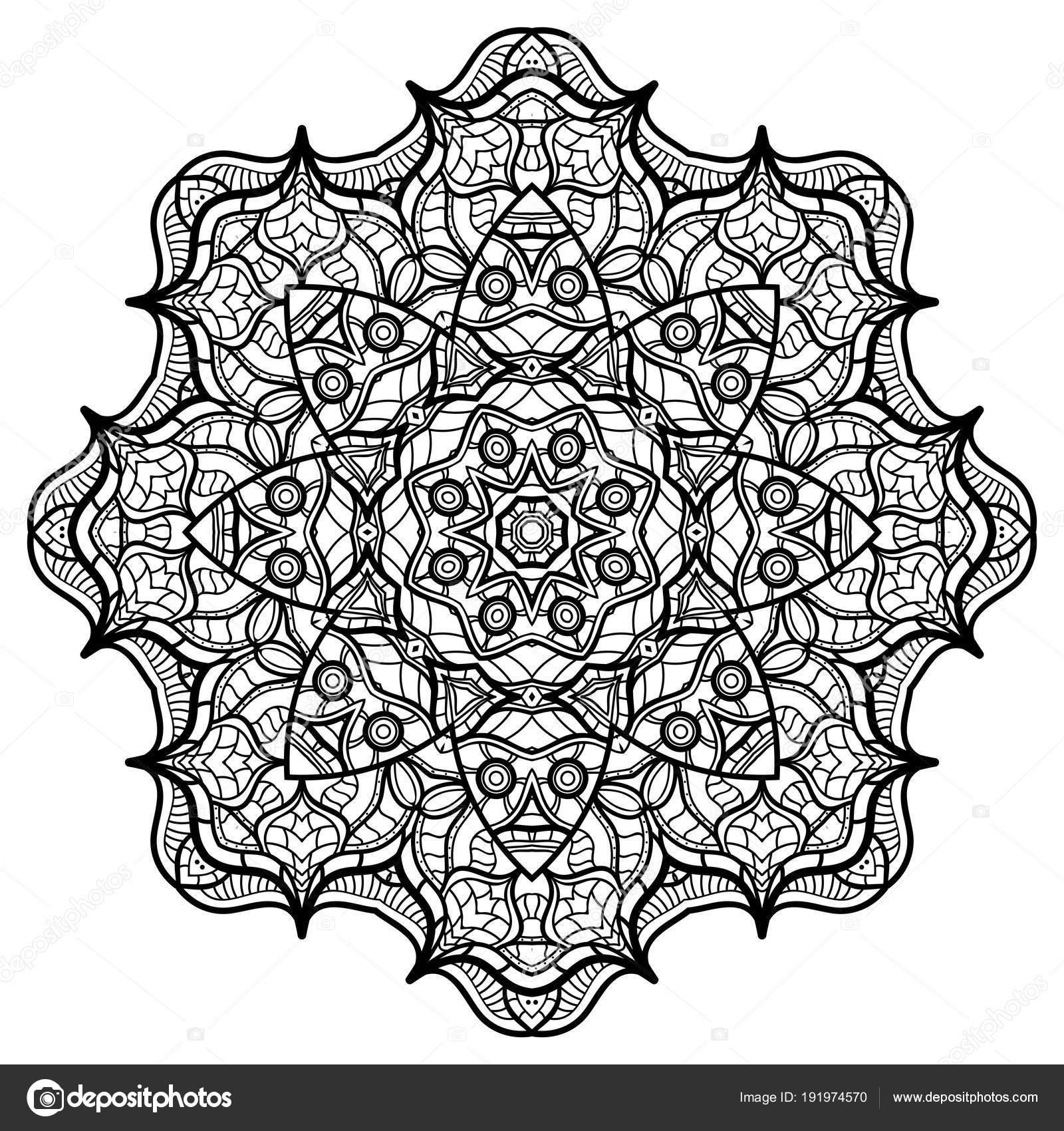 Mandalas Para Colorear Libro Ornamentos Decorativos