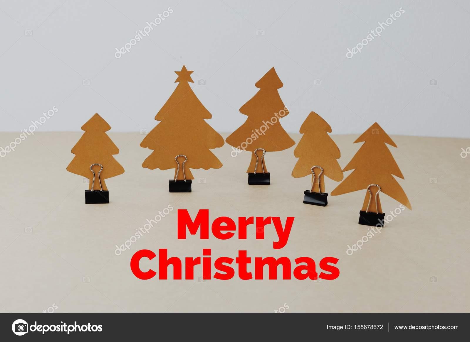 Handgemachtes Papier Weihnachtsbäume mit Bindemittel Clip und Worte ...