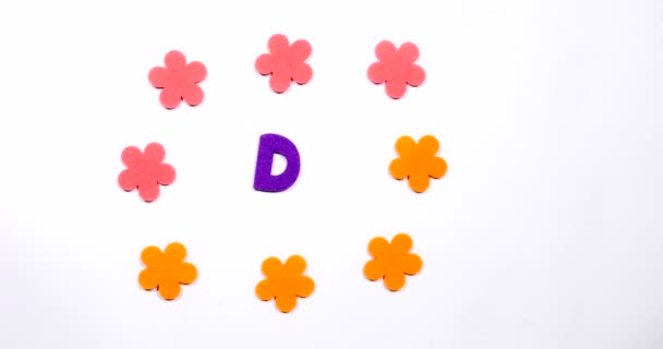 Letter D of the English alphabet. The letter is made of dancing font.