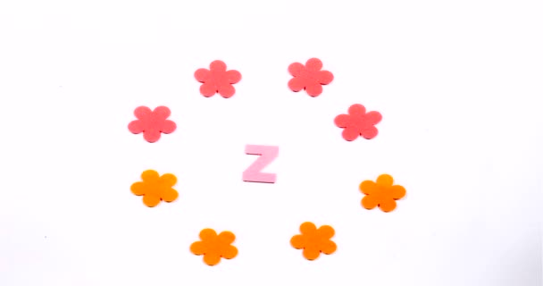 Letter Z of the English alphabet. Dancing letter on a white background.