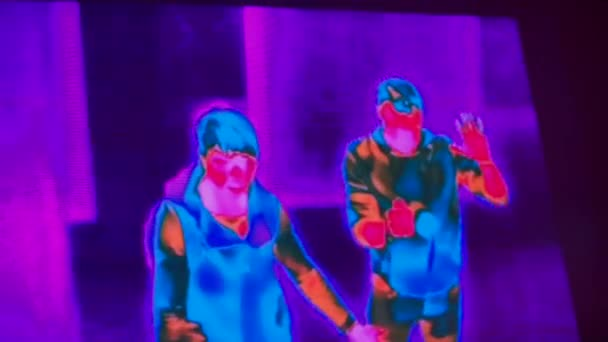 Infrared family radiation in the monitor.