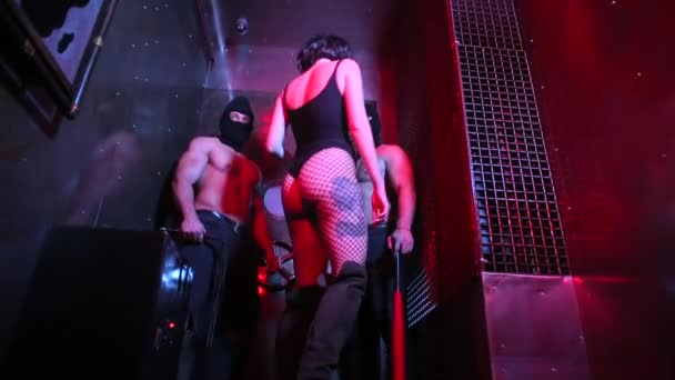 Performance of actors in striptease.