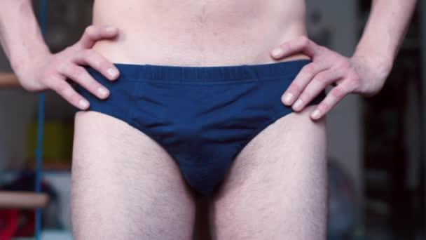Close-up of man underpants.