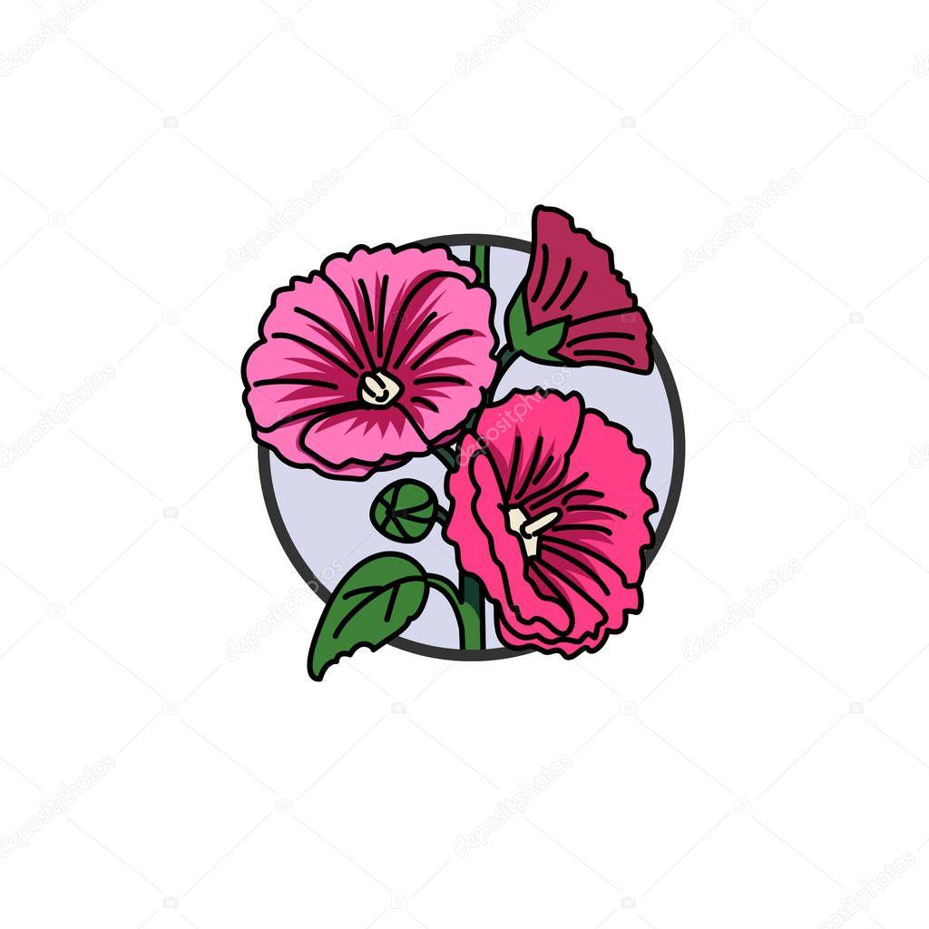 Ilustración de vector de color rosa malva — Archivo Imágenes ...