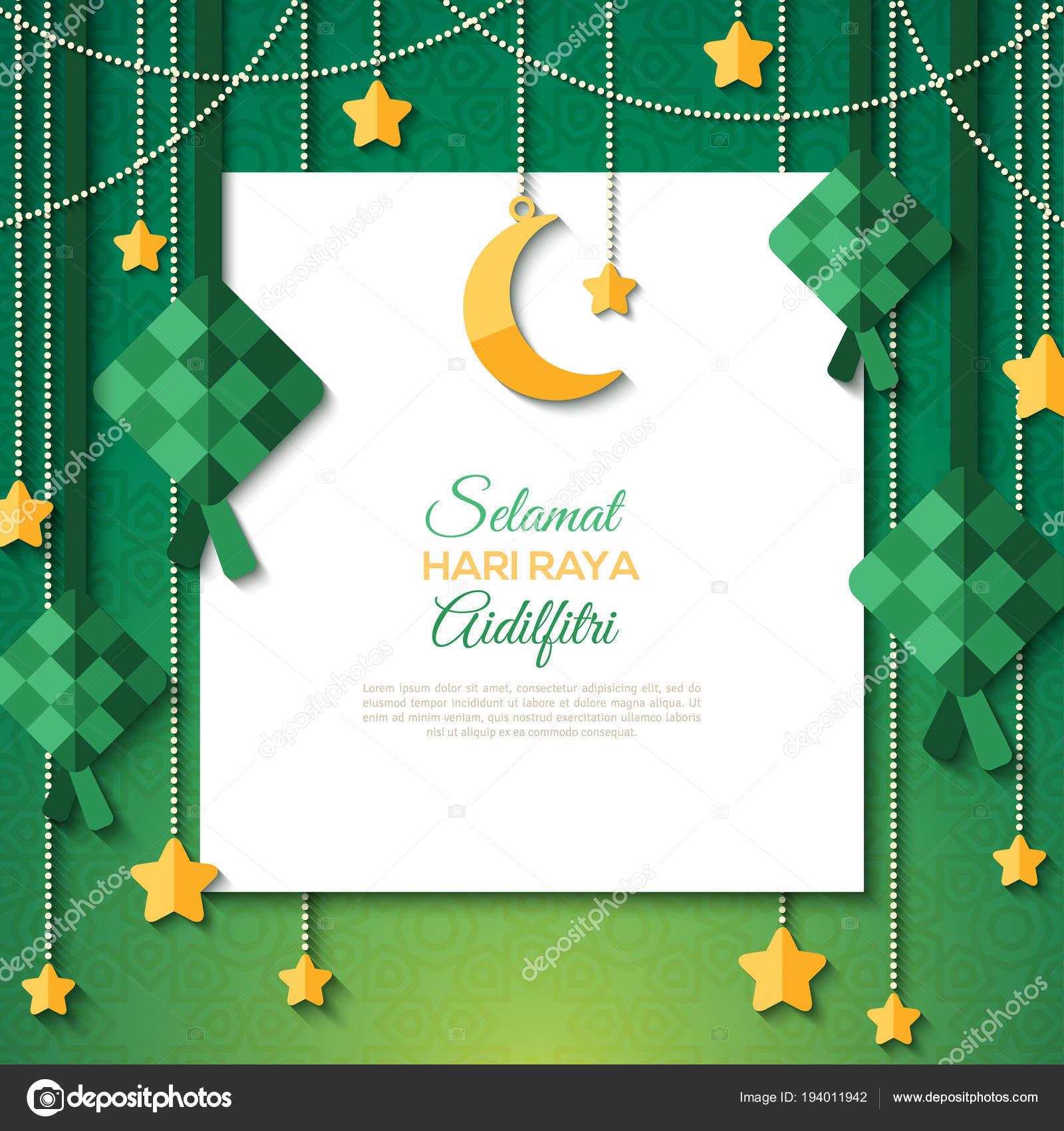 Selamat Hari Raya Card With White Paper Sheet