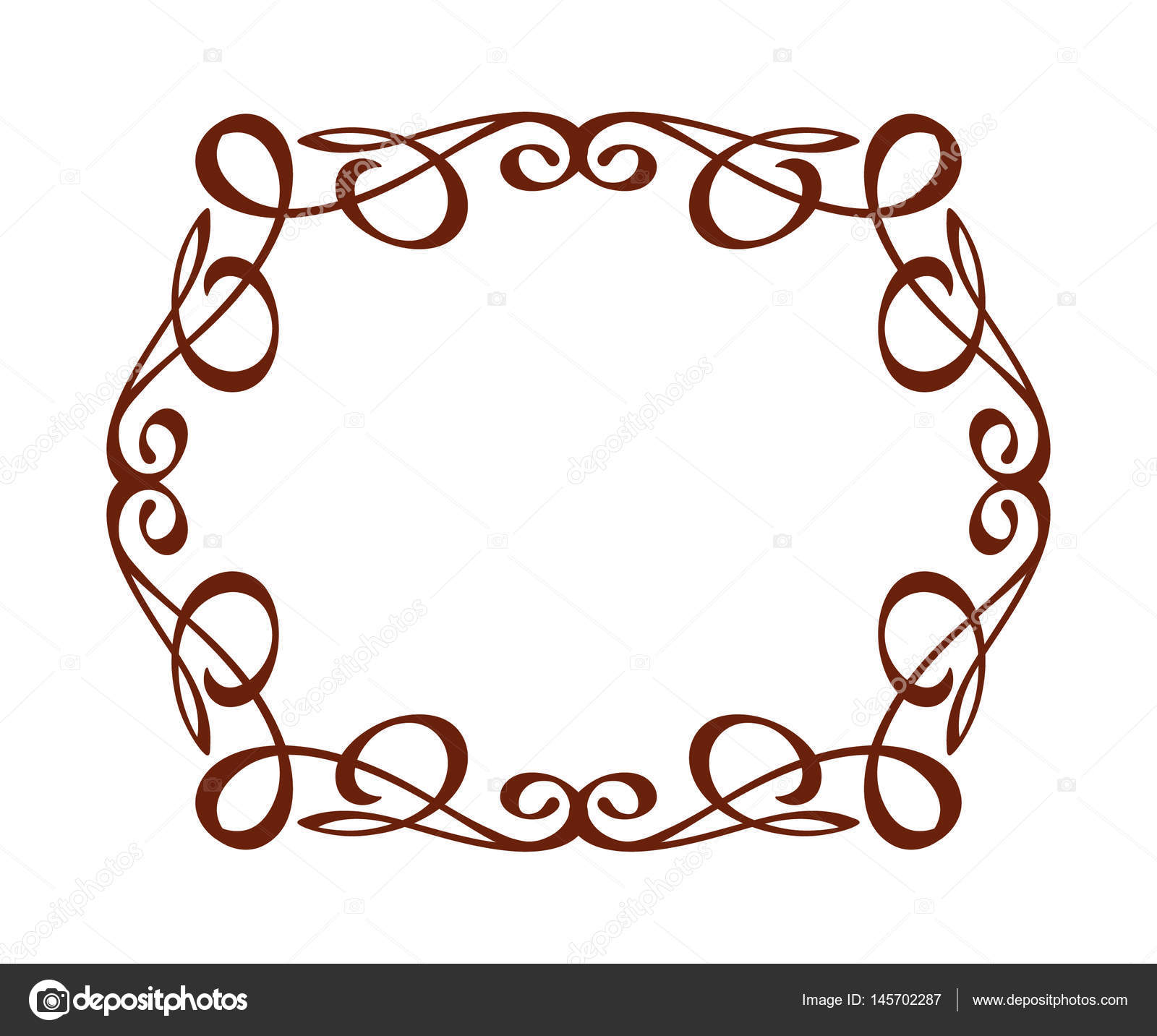decorative frames vintage vector brown on white vector illustration rh depositphotos com vintage baroque frame vector vintage vector frames and borders free