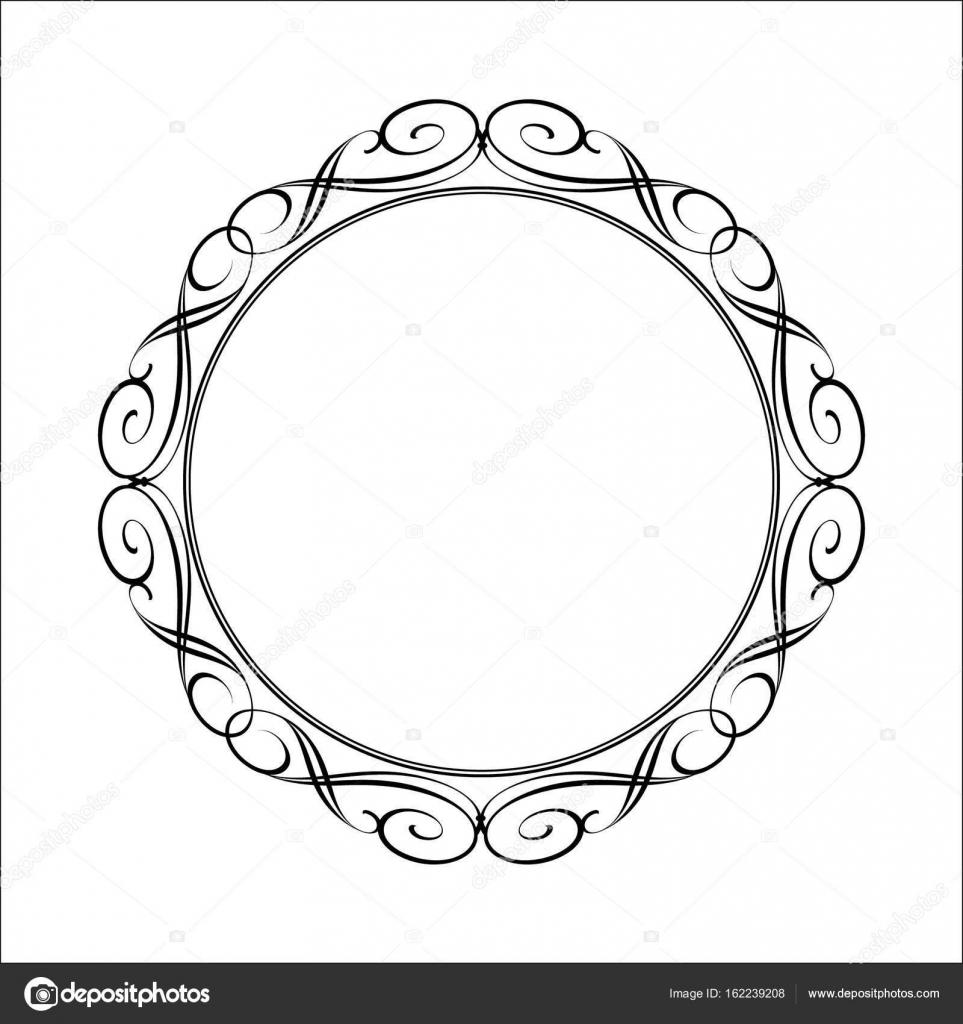 Elegant frame.Vector illustration. Black . — Stock Vector ...