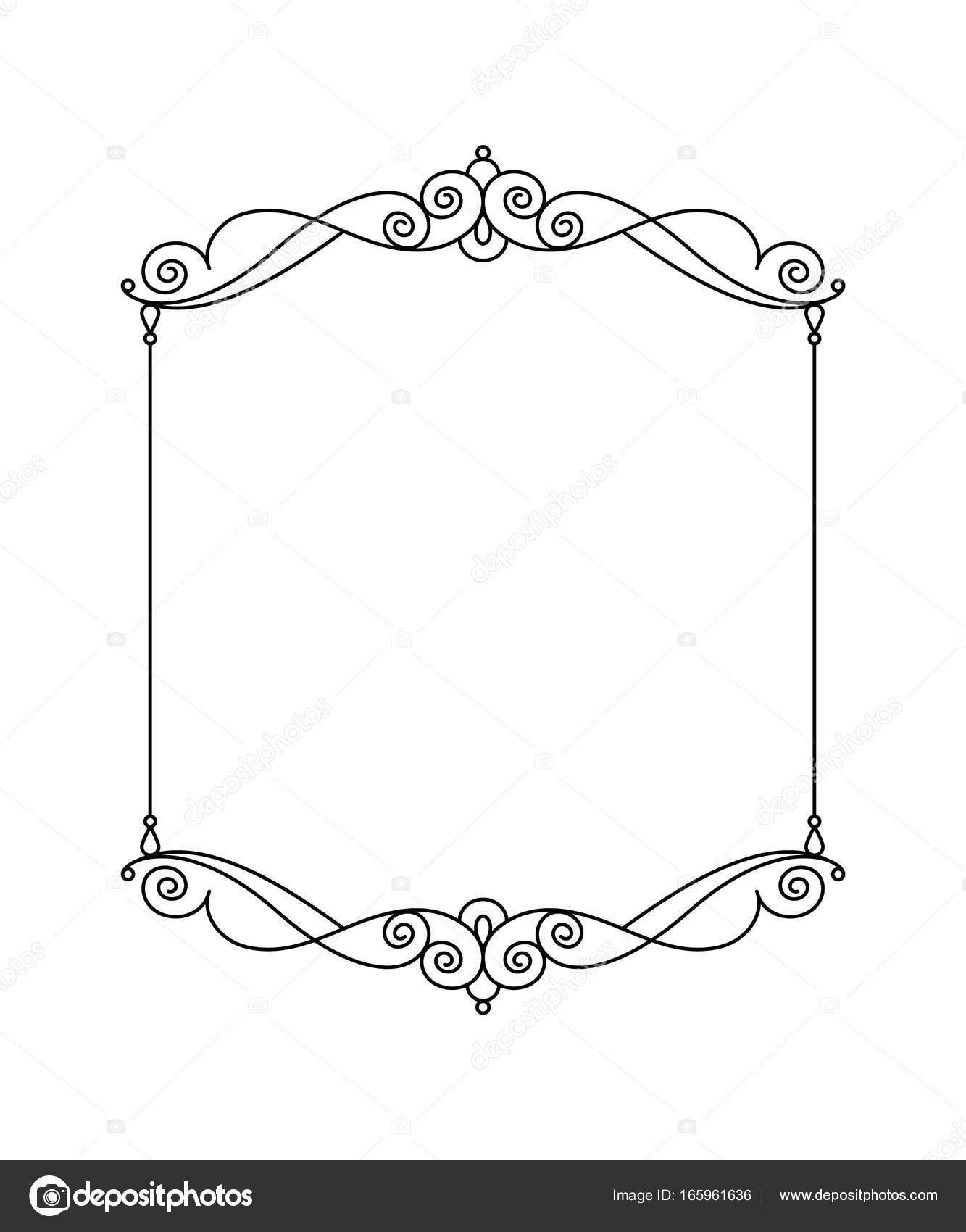 Vector retro frames .Vector illustration. Black . — Stock Vector ...