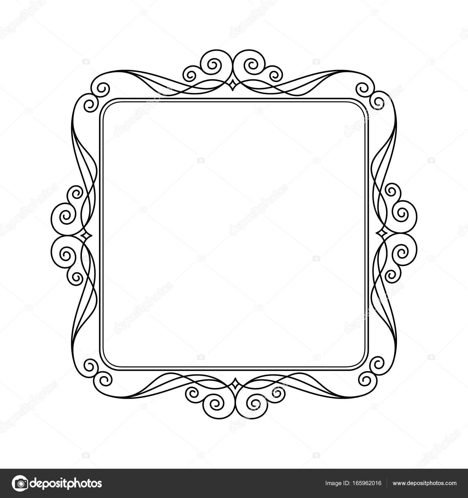 Vektor Retro-Rahmen. Vektor-Illustration. Schwarz — Stockvektor ...