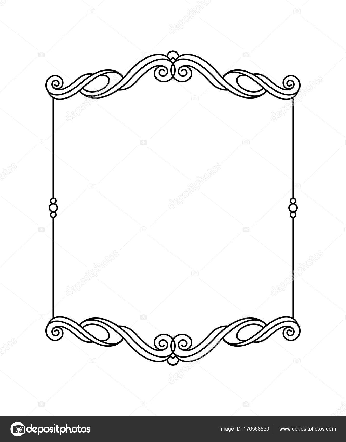 Elegant frame.Vector illustration. Black . — Stock Vector ...