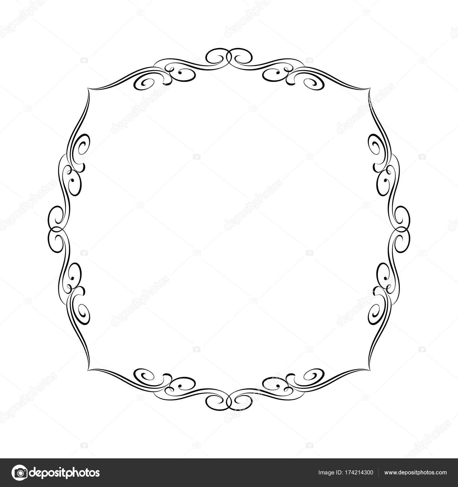 Dekorative Vektor Rahmen. Vektor-Illustration. Schwarz — Stockvektor ...