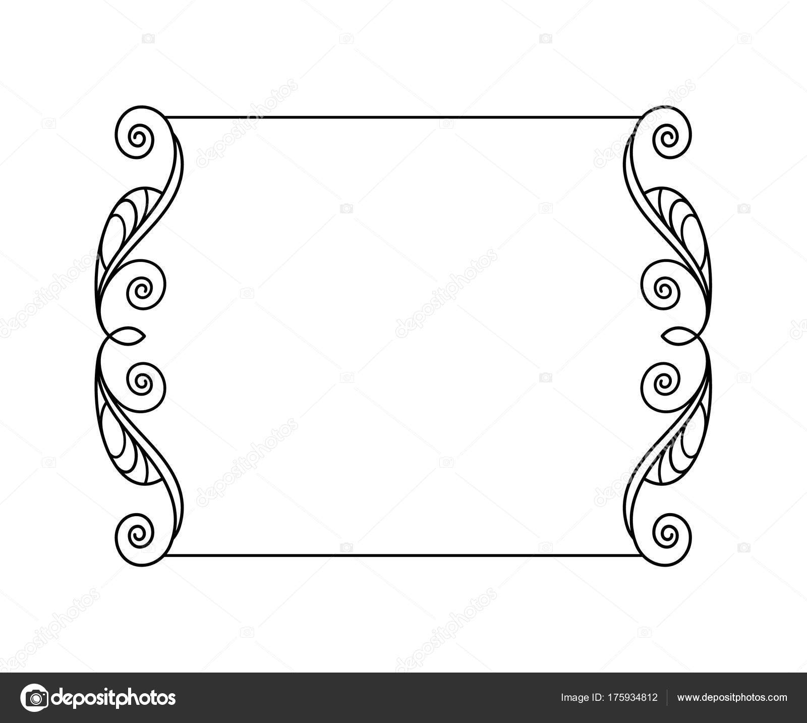 Vektor Retro Rahmen Vektor Illustration Schwarz Auf Weiß ...