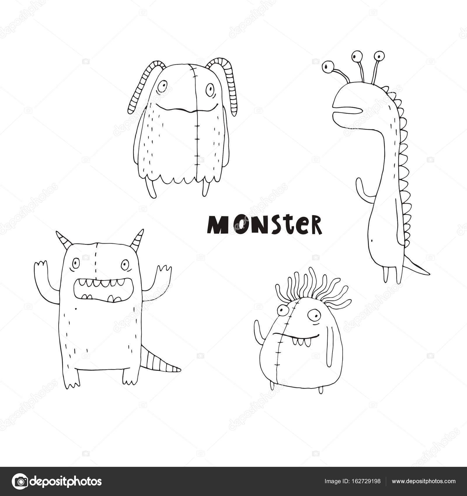 Nett Süße Monster Malvorlagen Für Kinder Ideen - Beispiel Business ...