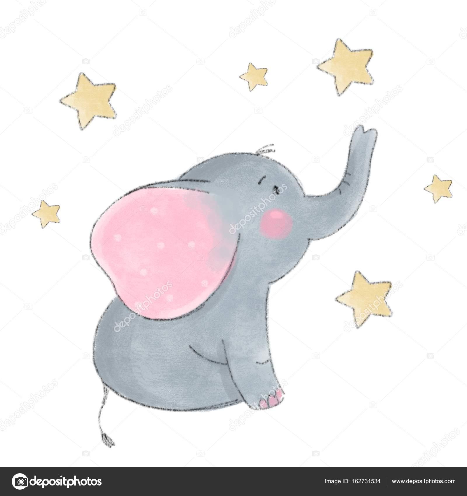 bebé lindo elefante — Vector de stock © Webmuza #162731534