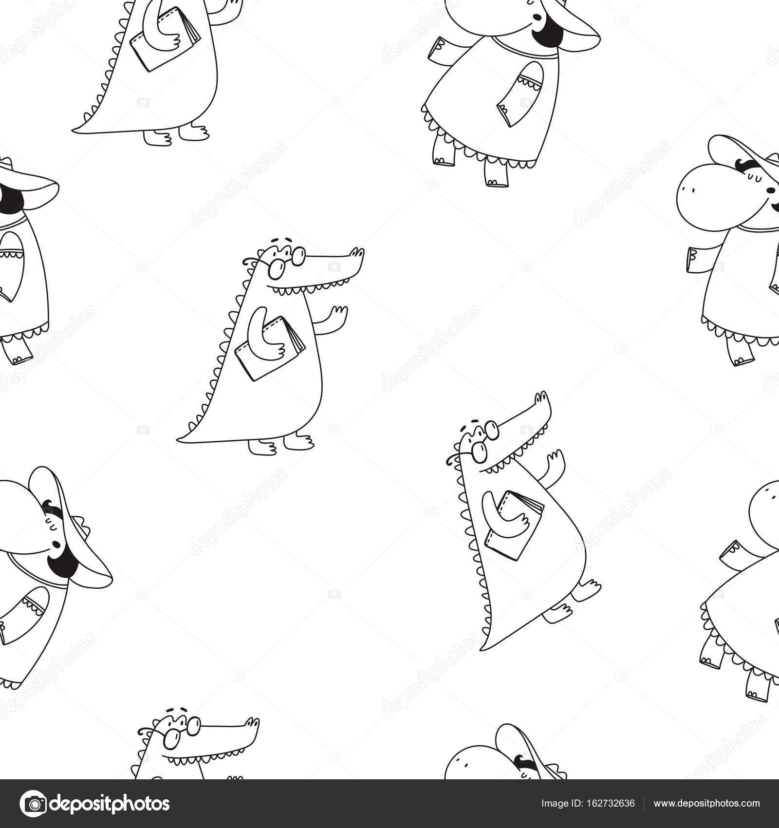 Dibujos Animales Del Desierto Para Colorear E Imprimir Cocodrilo
