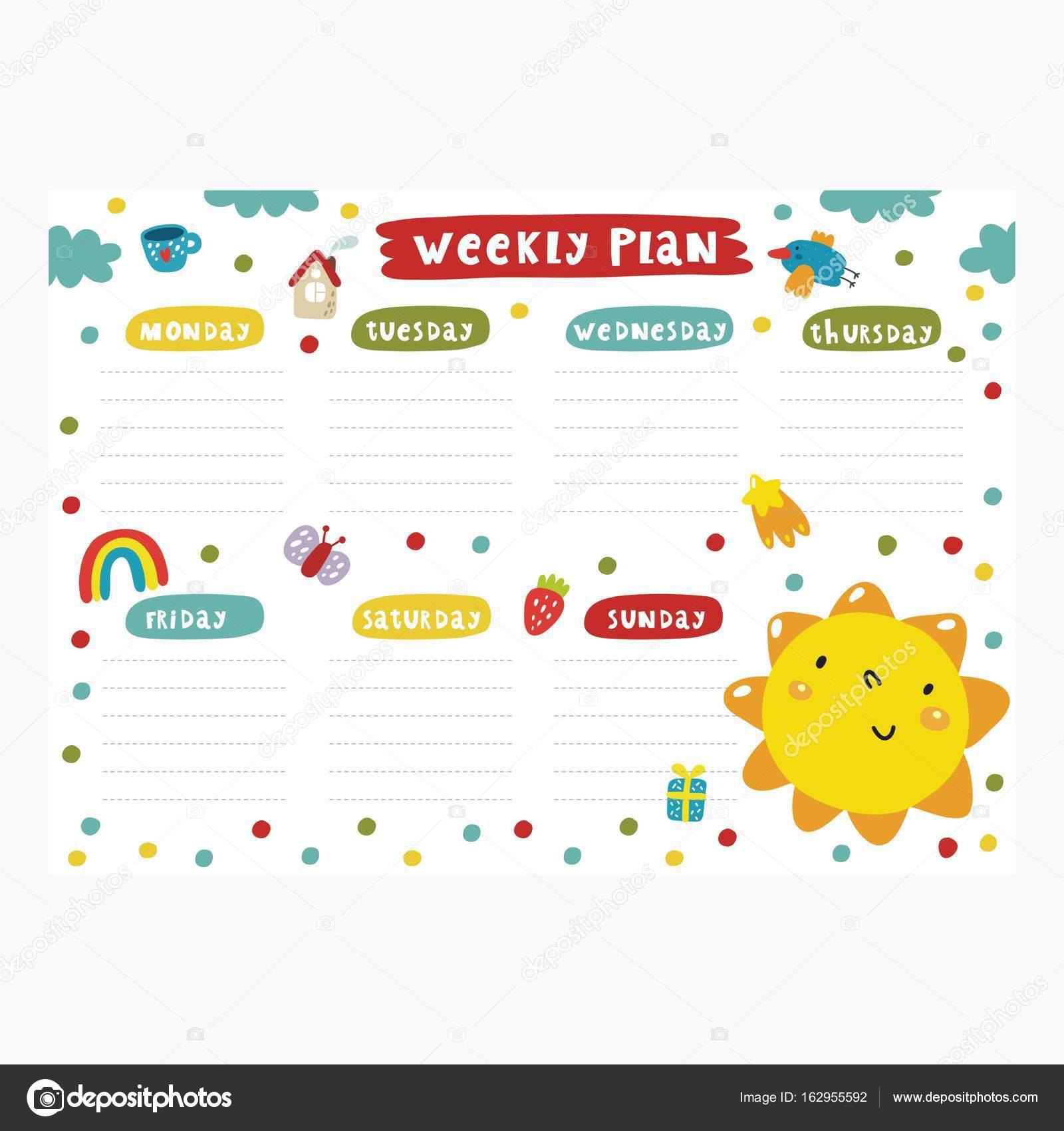 Atemberaubend Wöchentliche Planvorlage Ideen ...