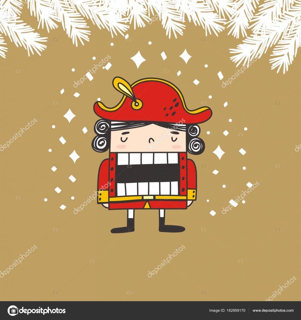 Ramas y Cascanueces dibujos animados — Vector de stock © Webmuza ...