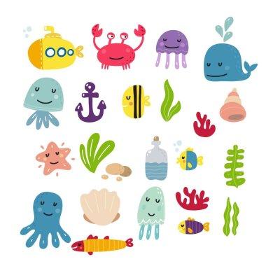 Cute sea print for kids