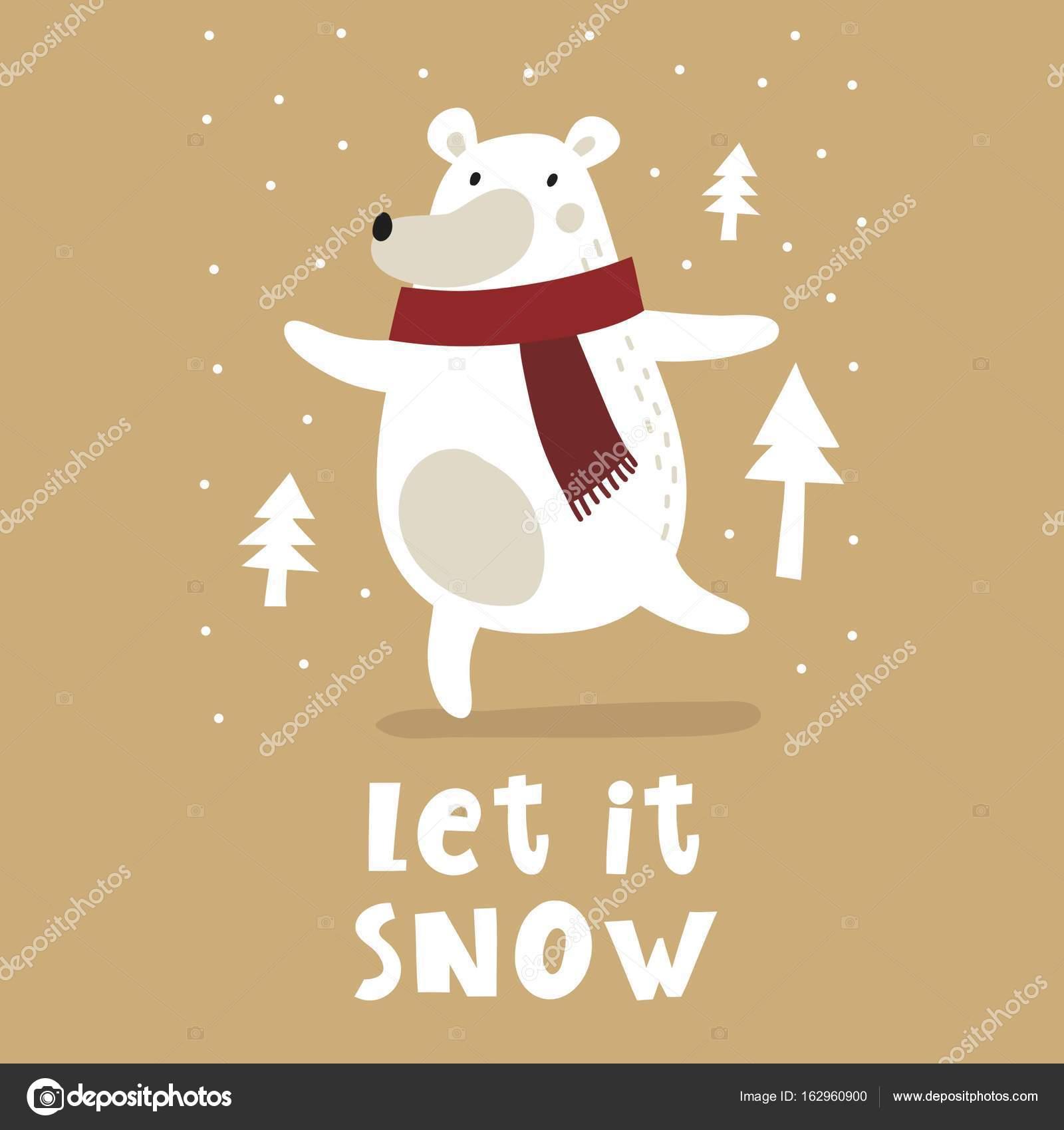Simpatico cartone animato orso bianco u vettoriali stock webmuza