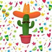 Fotografia Stampa di cartoon cactus messicano