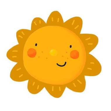 Cartoon sun illustration