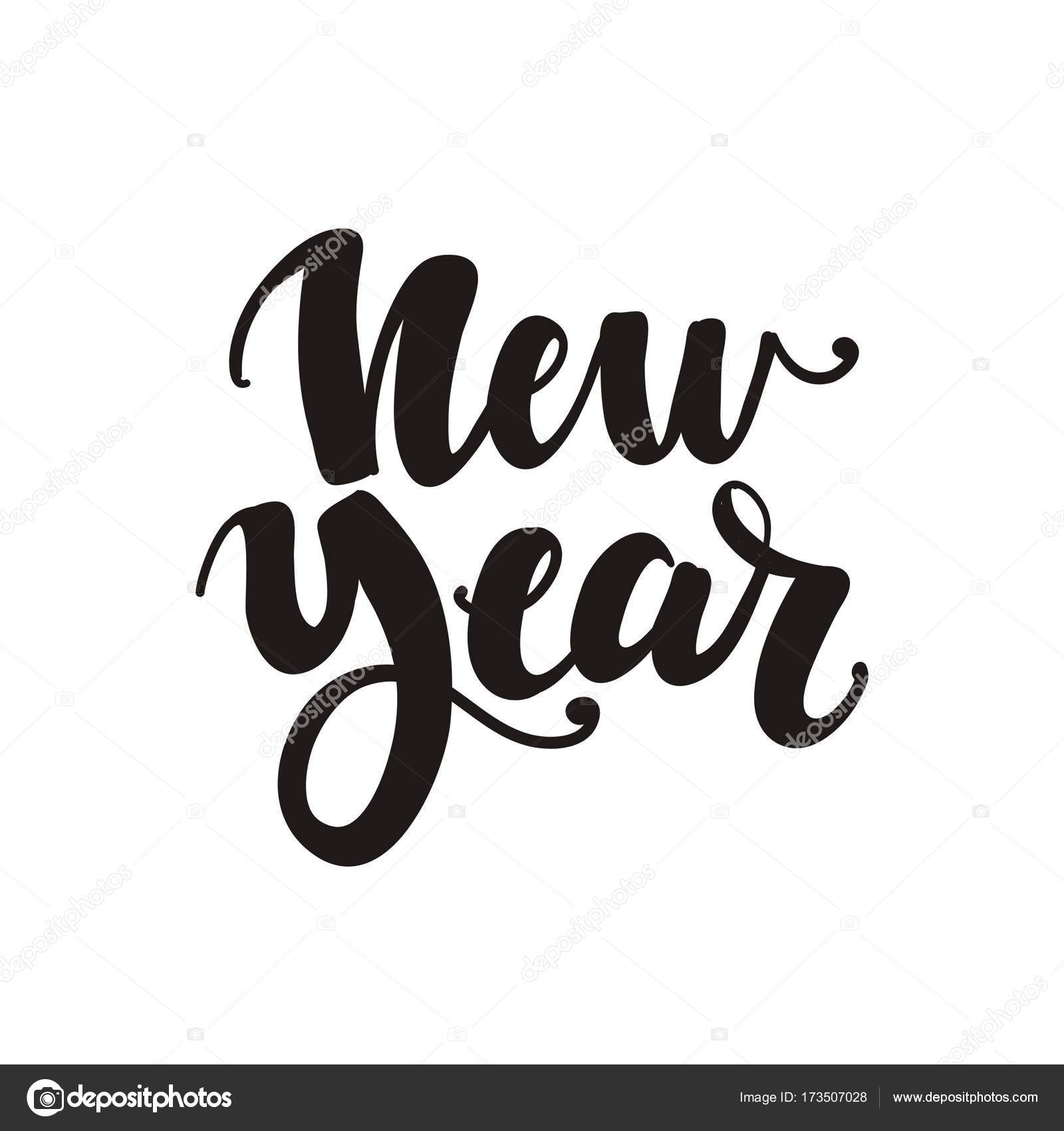 Happy New Year Lettering Design 13