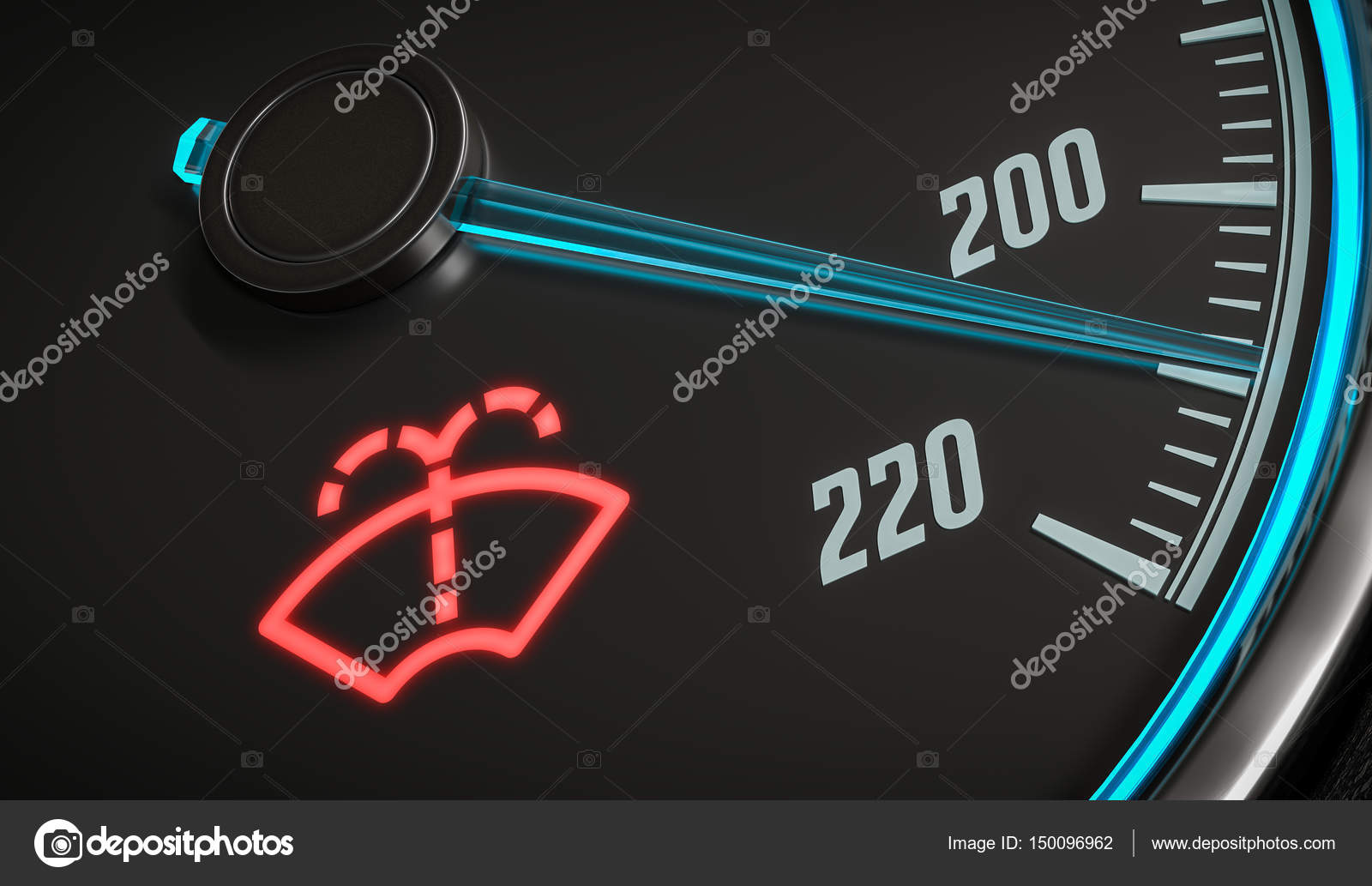 Low Windshield Washer Fluid Indicator Warning In Car Dashboard 3d