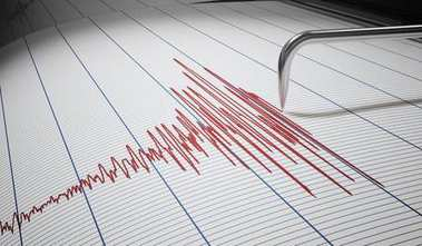 Seismograph for earthquake detection or lie detector is drawing