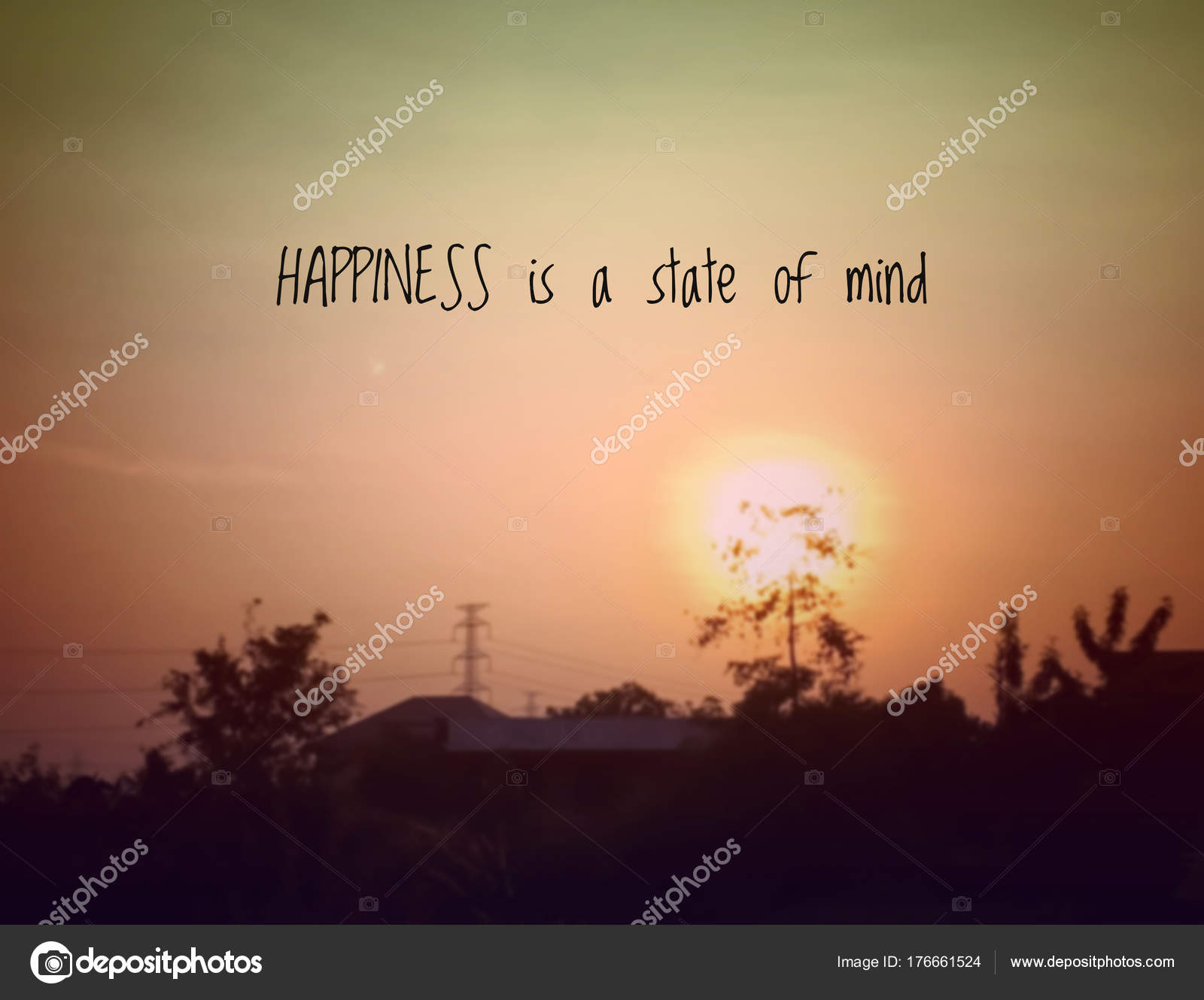 Inspirational Quote Motivational Background Happiness State Mind