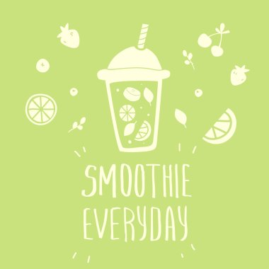 Cartoon smoothie to go cup