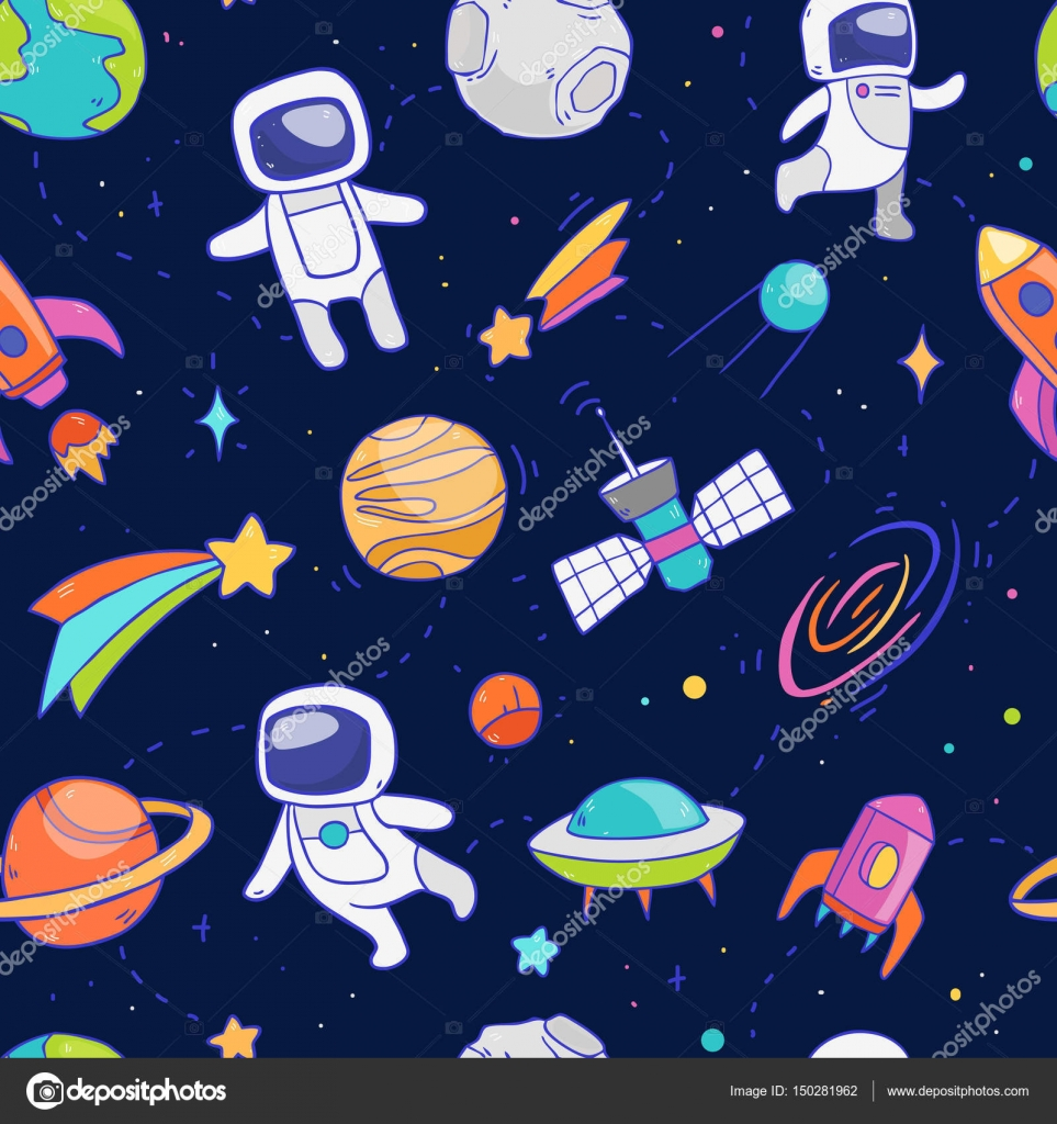 Padr o do espa o sideral vetor de stock lunter 150281962 for Outer space pattern