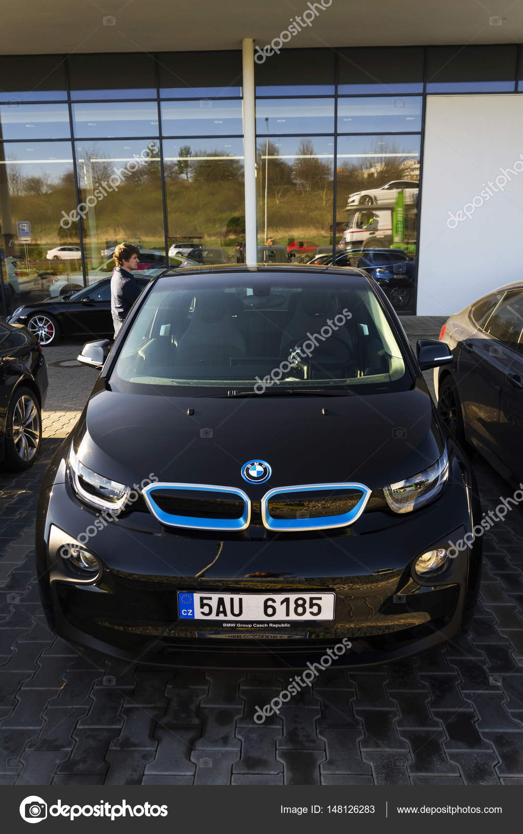 Bmw I3 Car Company Logo In Front Of Dealership Building On March 31