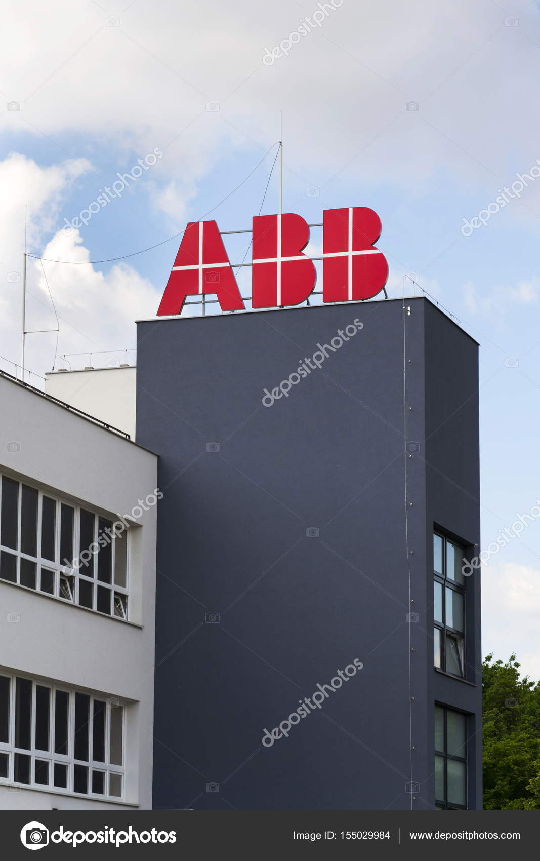 ABB company logo on headquarters building – Stock Editorial