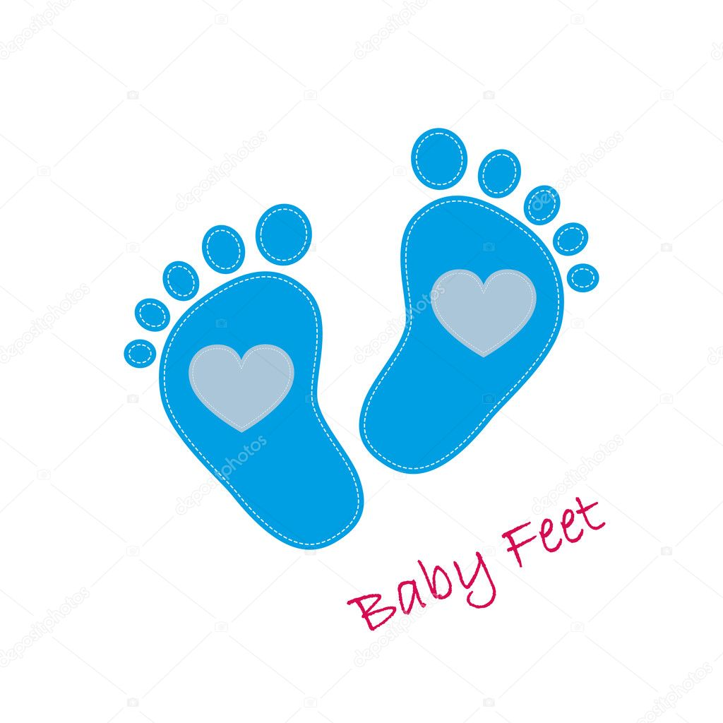 baby footprints icon vector illustration stock vector chekman1