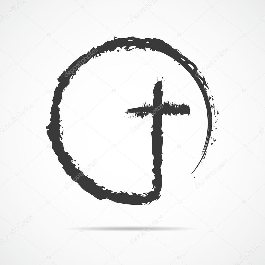 Icono De Cruz Cristiano Negro Ilustración De Vector Vector De