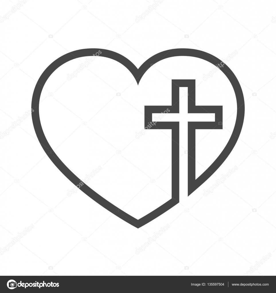 coeur avec une croix chr233tienne 224 l�int233rieur
