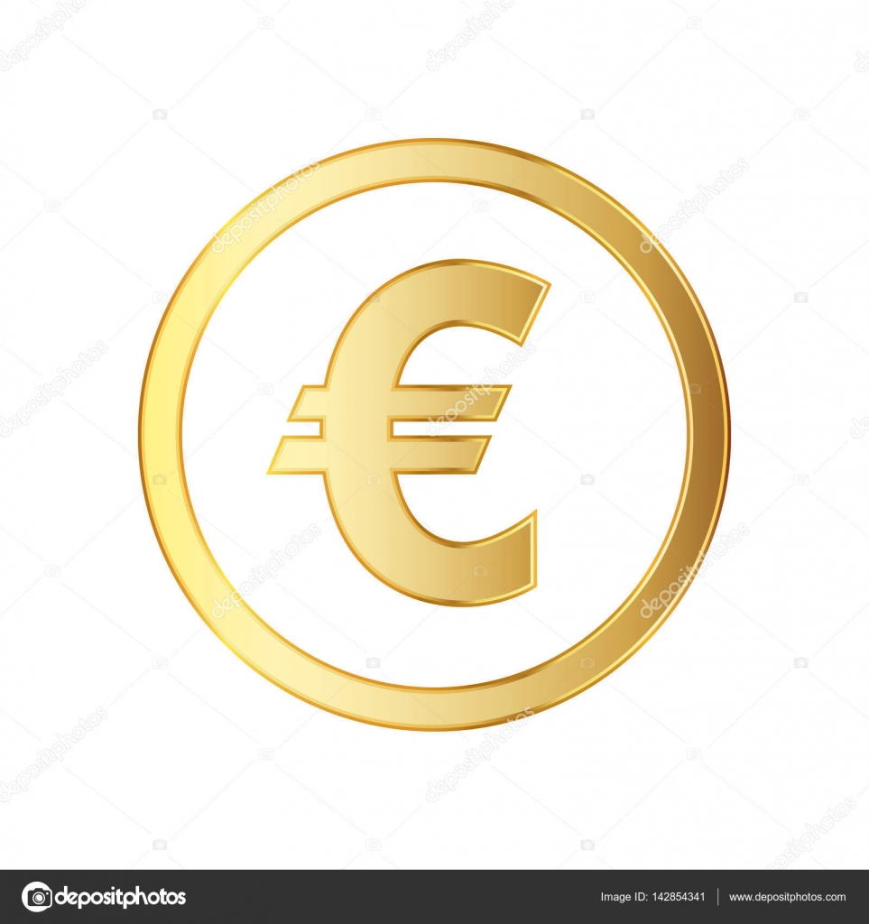 Golden Symbol Of The Euro Currency Vector Illustration Stock