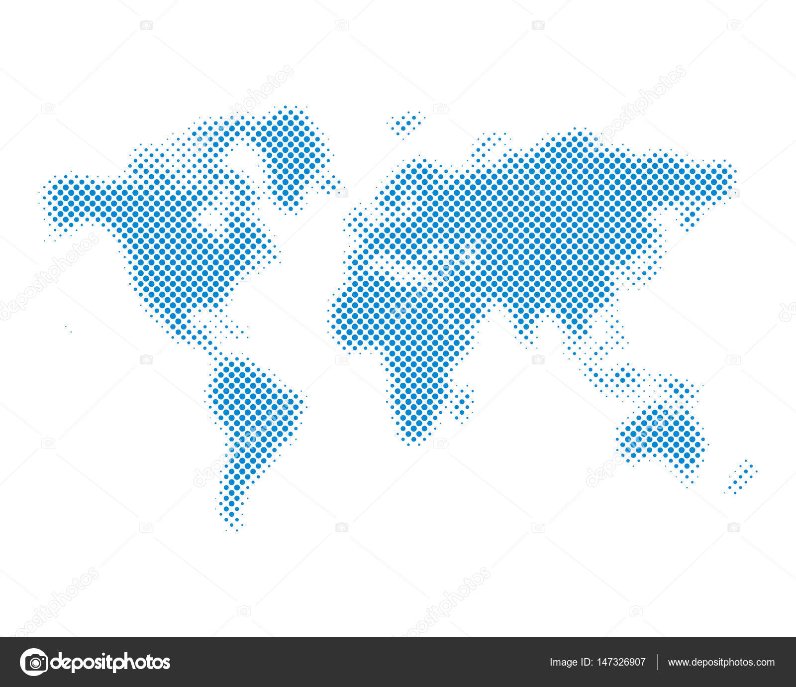 Halftone world map vector illustration stock vector chekman1 blue halftone world map isolated vector illustration dotted map in flat design vector by chekman1 gumiabroncs Images
