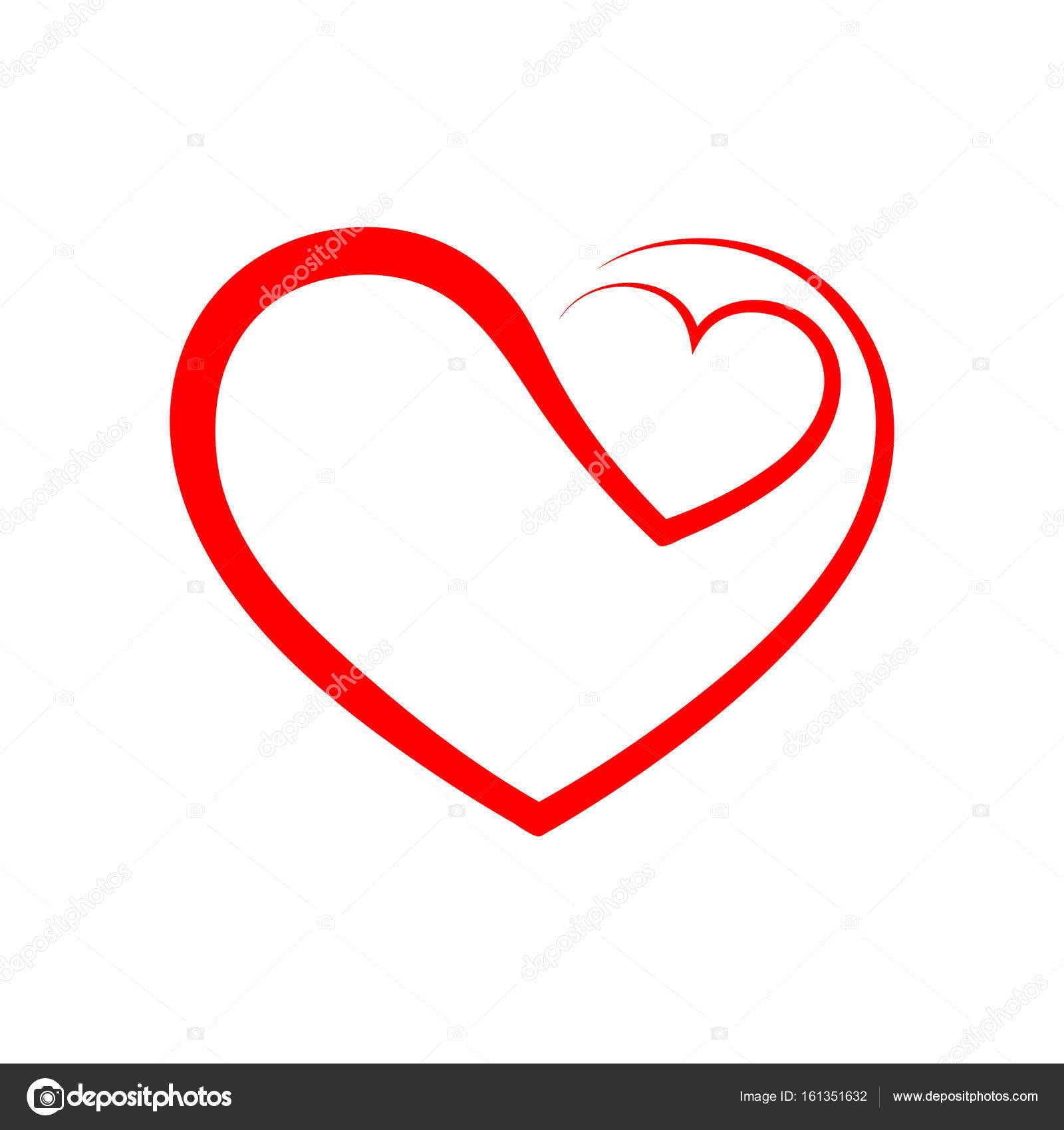 abstract heart icon vector illustration stock vector chekman1