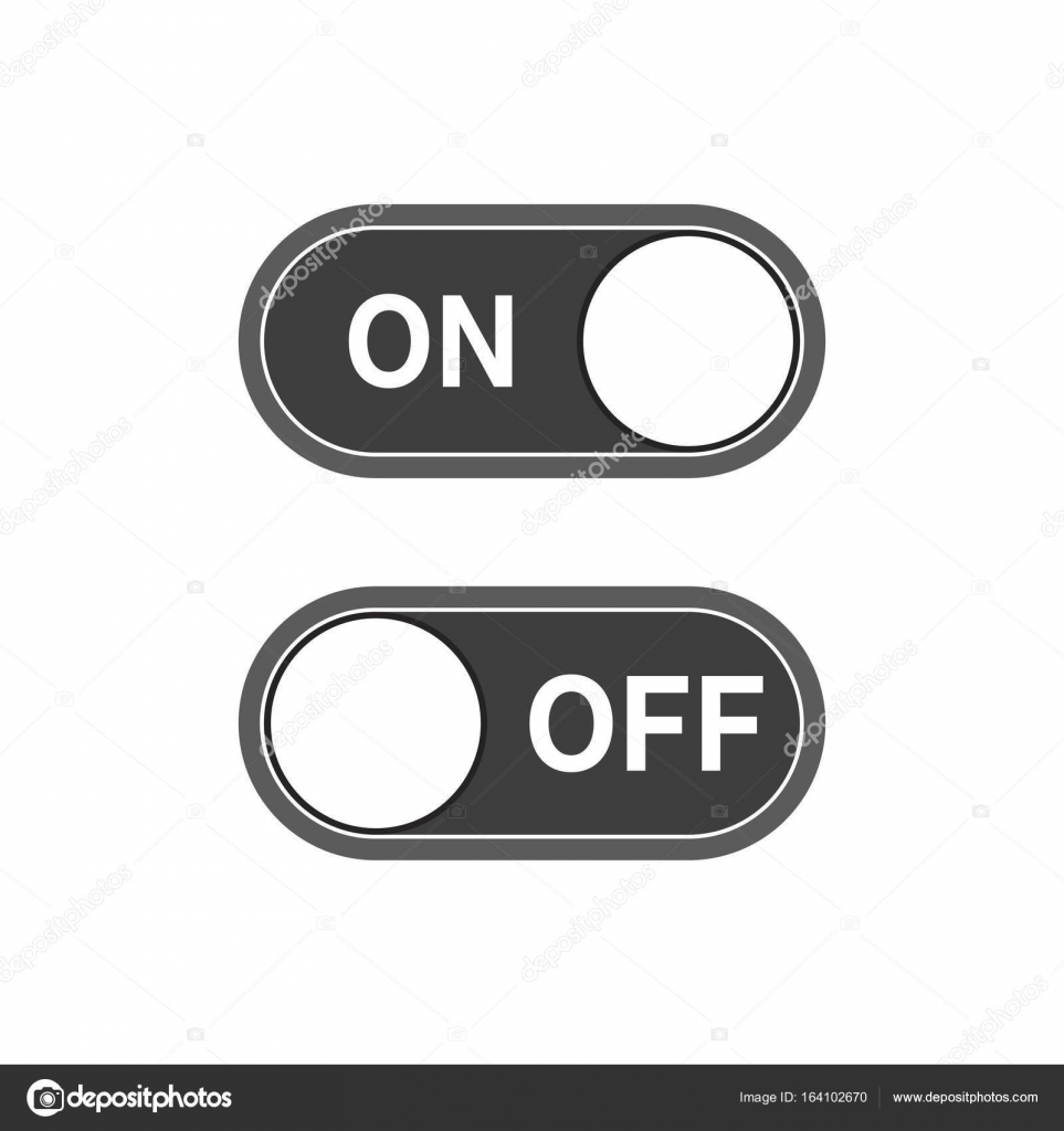 On and Off Switches icon. Vector illustration — Stock Vector ...