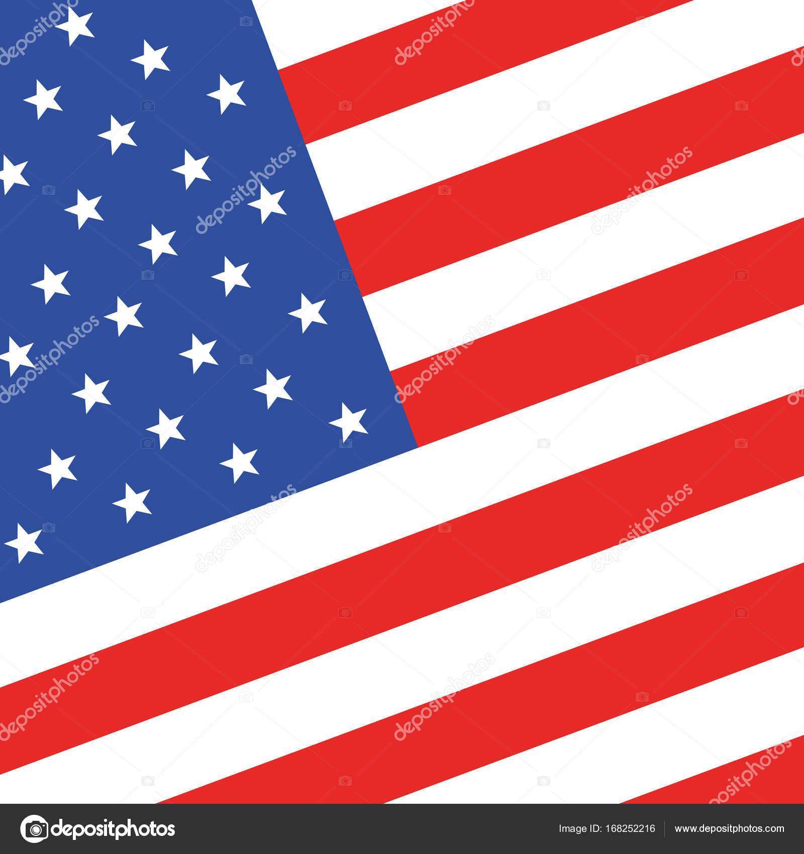 アメリカの国旗ベクトル イラスト ストックベクター Chekman1