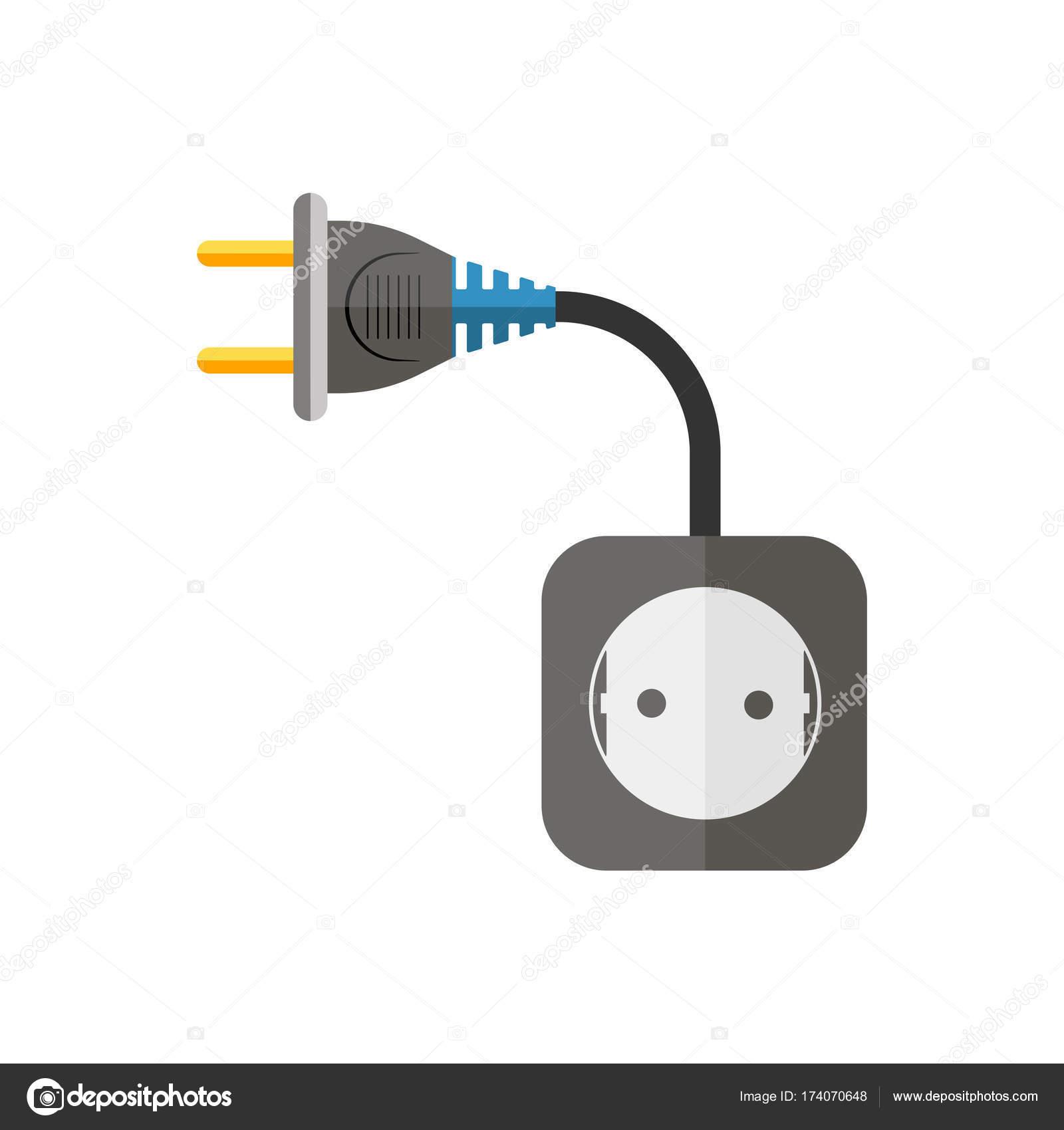 Strom Verlängerungskabel Vektor Illustration Stockvektor