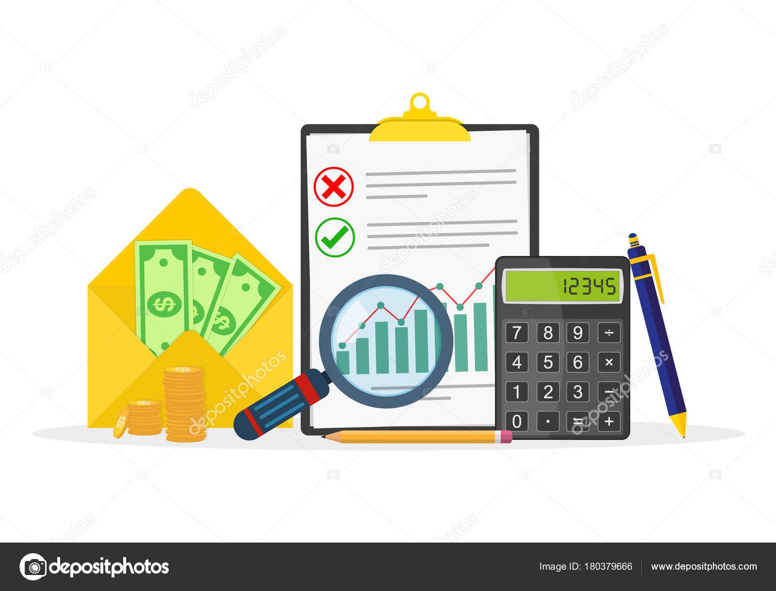 Steuer Zahlung Symbole Staatliche Steuern Konzept Vektor ...