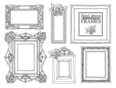 Set of vintage frames.